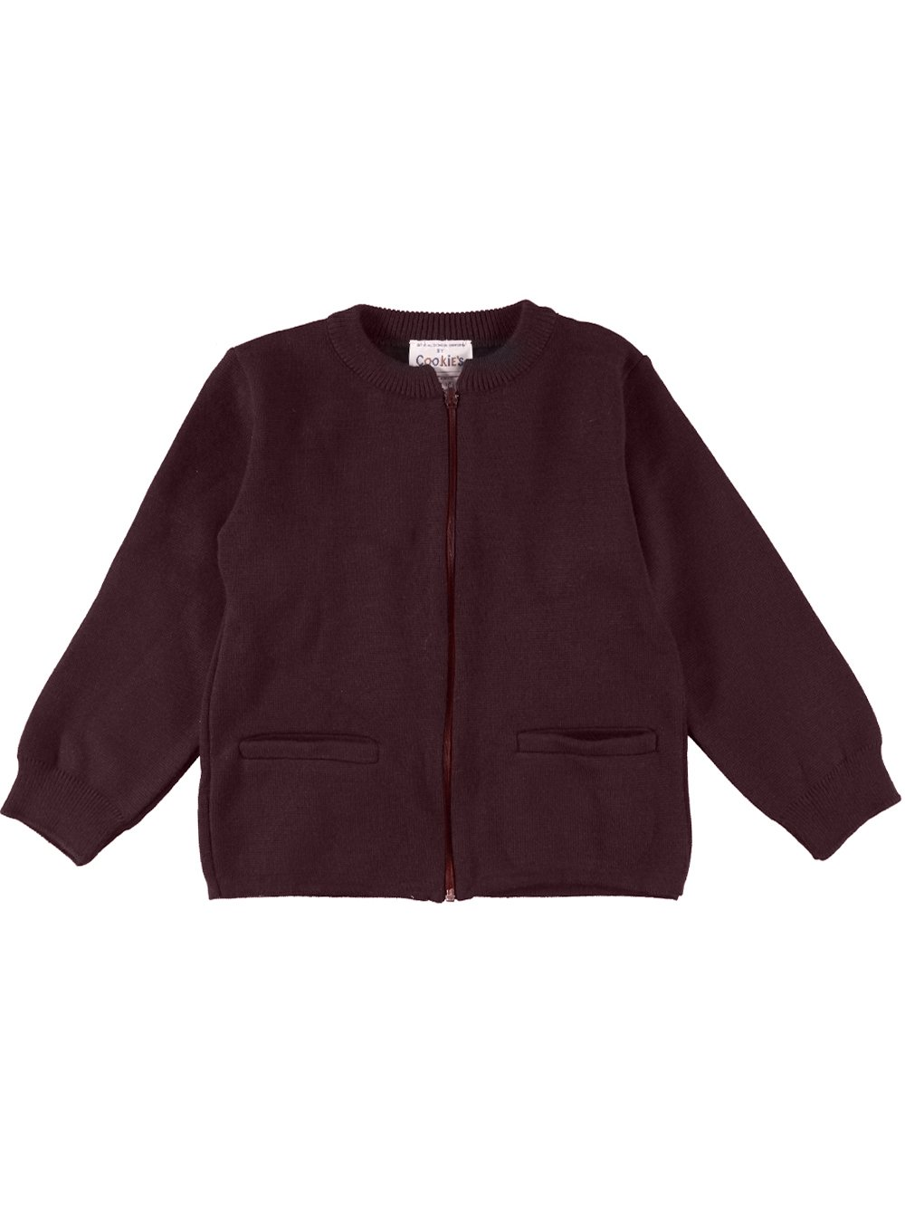 Cookie's Brand Big Girls' Zip-Up Cardigan - burgundy, 10-12