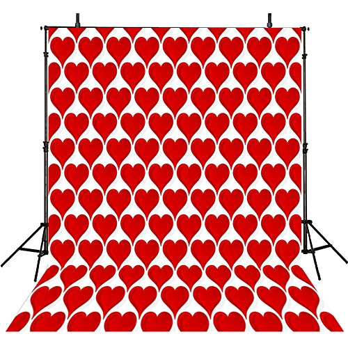 Photography Backgrounds Heart 10Feet-10Feet Photo Backdrops Red Backgrounds Computer Printed Vinyl Photography - Day Valintines Whens