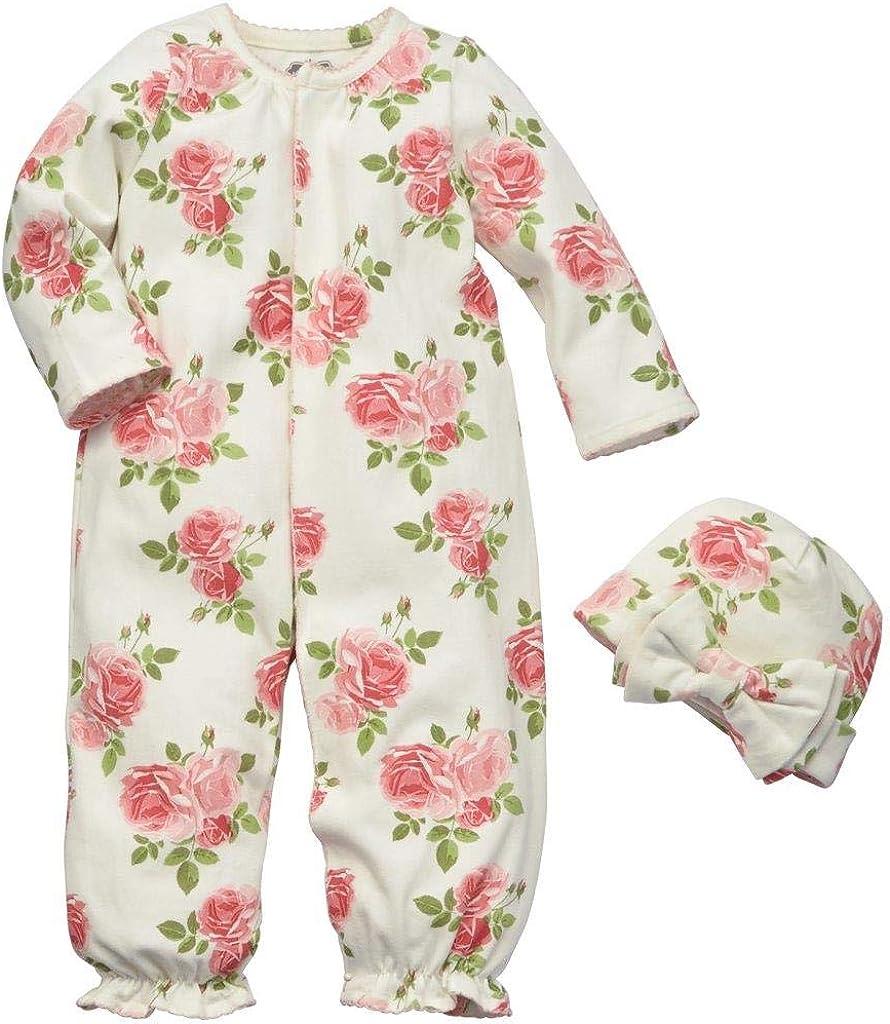 Blue 0-3 Months Mud Pie Baby Girls Floral Convertible Sleepgown