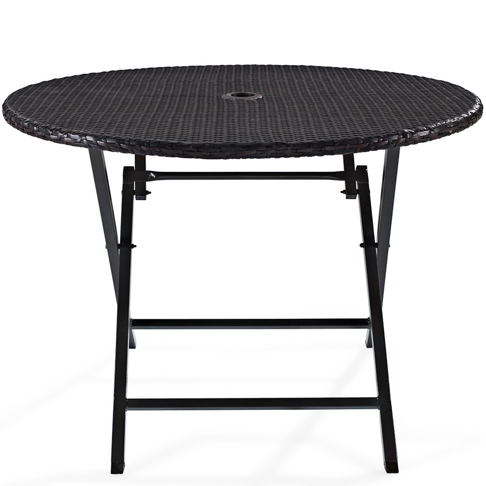 Amazon.com: Crosley Palm Harbor Outdoor Wicker Folding Table ...