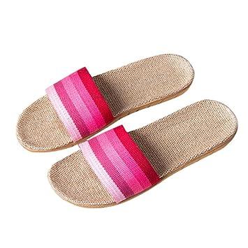Sannysis Sandalias Mujer Verano Sandalias Bohemias Zapatillas Plataforma Antideslizante para Interior y Al Aire Libre (EU 39-40, Rosa): Amazon.es: Hogar