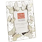 Ten Thousand Villages Capiz Shell and Wire Butterflies Picture Frame for 3x5 Photo 'Enchantment Frame'