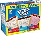 Pop-Tarts Kellogg's Variety Pack, Frosted Cherry/Frosted Blueberry/Frosted Strawberry, 22 Ounce (Pack of 2)