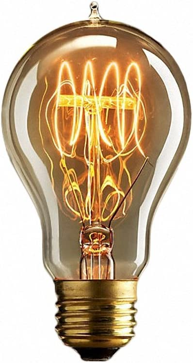 Ideal f/ür Nostalgie und Retro Beleuchtung-6 St/ücke 40W, E27, 220-240V 6 CMYK Antike Edison Vintage MasterGlobe Gl/ühbirne