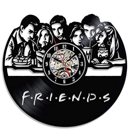 12 Gifts Of Christmas Cast.Amazon Com Friends Vinyl Record Wall Clock 12 Inch Quality