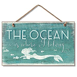 61ZM4KZfglL._SS300_ Wooden Beach Signs & Coastal Wood Signs