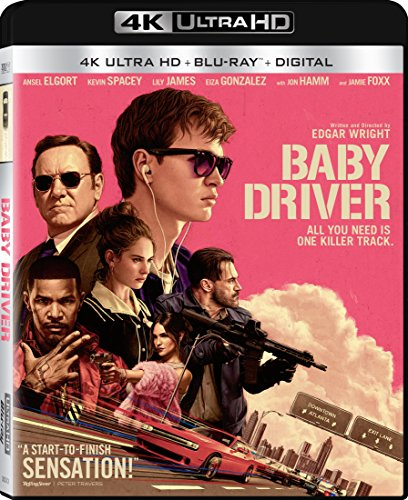 4K Blu-ray : Baby Driver (With Blu-Ray, 4K Mastering, Ultraviolet Digital Copy, Widescreen, Dubbed)