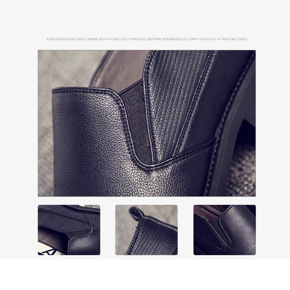 XIAOLONGY Beiläufige Schuhe Männer des Herbstes, Schuhe der Art und Breathable Weise Lederne Männer, Füße, Breathable und Schuhe, Weiche Alleinige Schuhe schwarz b5aab8