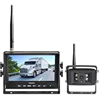 Haloview MC7108 Wireless RV Backup Camera System 7'' Monitor Built in DVR Rear View Camera with Infrared Night Vision…