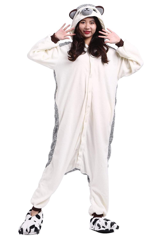 011c8243f82b Amazon.com  Pajamas Onesie Adult Hedgehog Cartoon Animal Cosplay Sleepsuit  Unisex  Clothing
