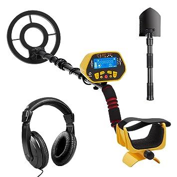 URCERI 1028 Detector de Metales, Alta Sensibilidad, 2 Modos de busca, Pantalla LCD