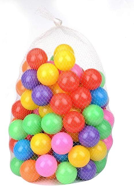 Pelotas Multicolores de Plástico Ø5,5cm de Diámetro 50 Pequeñas ...