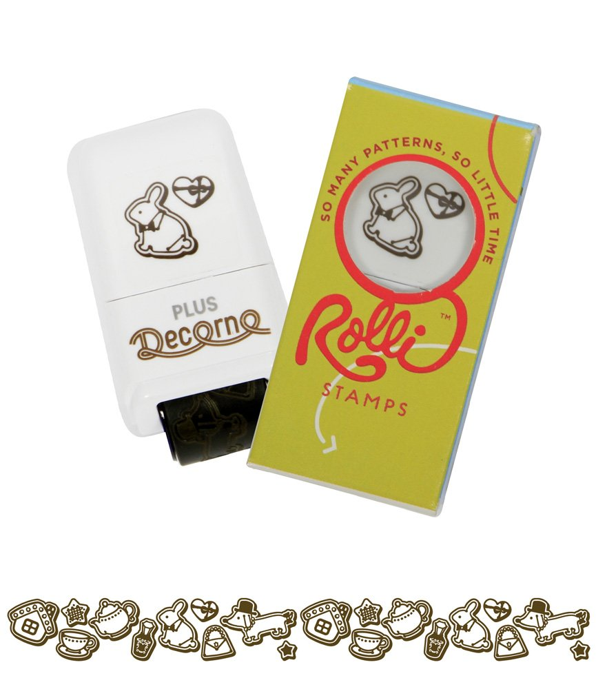 Tea Party with Cookies Rolli Self-Inking Craft Pattern Rolling Stamp