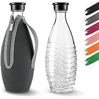 Siegvoll Beschermhoes voor SodaStream Crystal glazen karaf 0,615 L   breukbescherming neopreen hoes voor SodaStream…