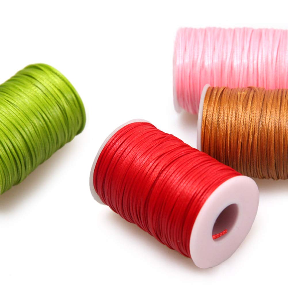 65m Wax Line Thread String Flat 1.2mm Bag Wallet Sew Line Black