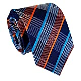 (US) MENDENG New Classic Striped White Black Streak 100% Silk Men's Tie Necktie Ties