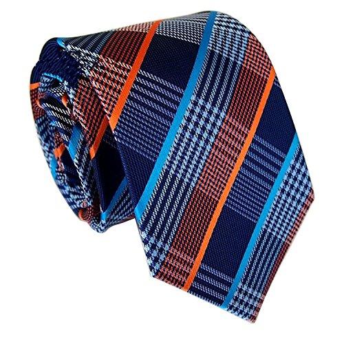 New Silk Mens Necktie Tie (MENDENG New Classic Striped White Black Streak 100% Silk Men's Tie Necktie Ties)