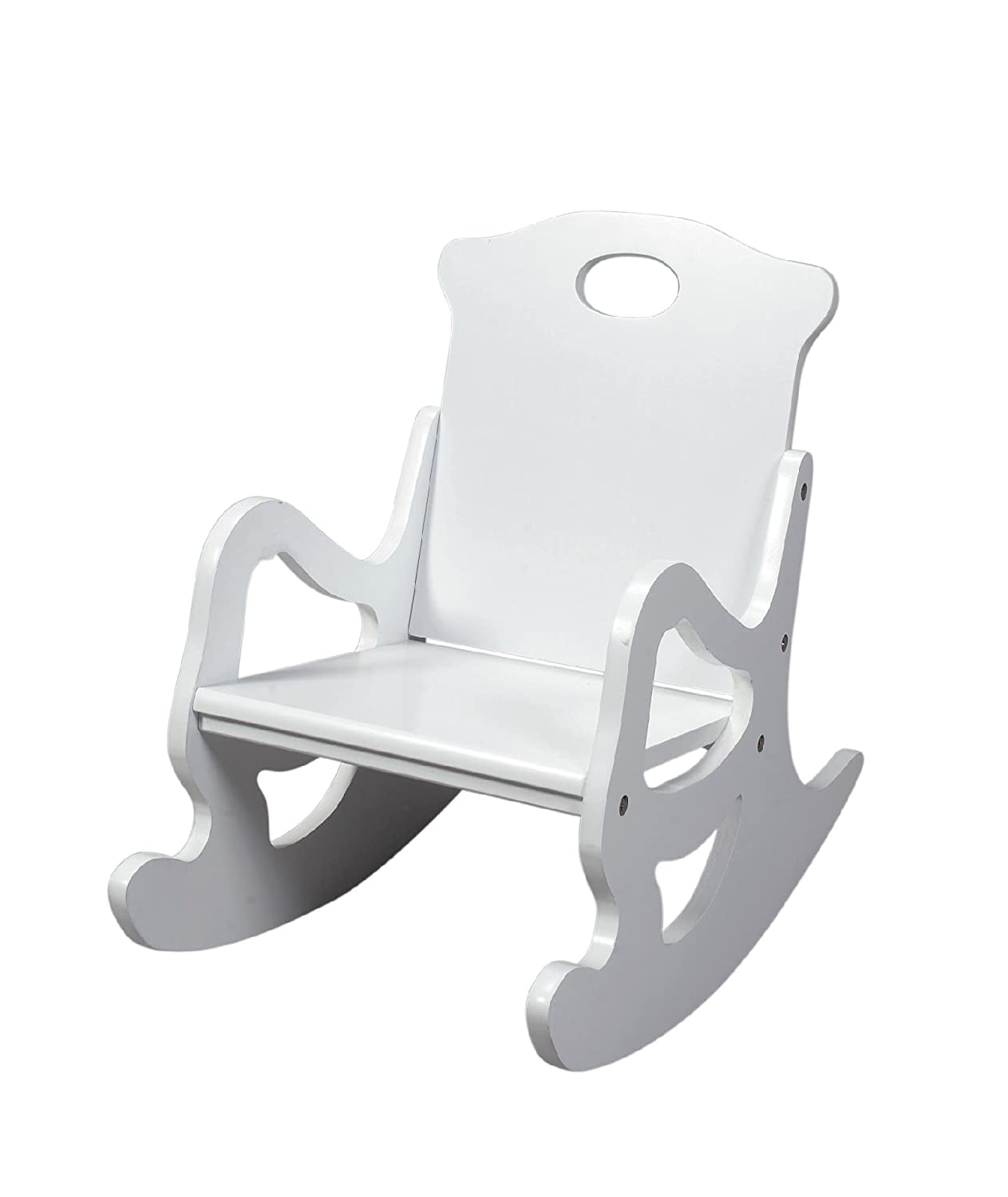 Gift Mark Single Seat Puzzle Rocker, White 1467W