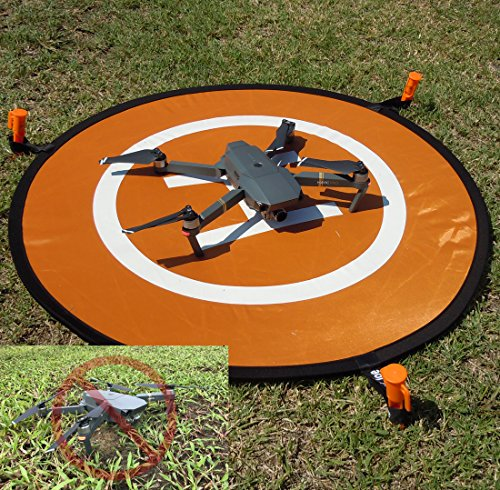 - Portable Drone Landing Pad With Night LED Fast Fold RC Quadcopter Helicopter Launch Apron for DJI Spark, Mavic Pro, Phantom, Inspire, Yuneec Typhoon, 3DR Solo, GoPro Karma, Parrot, Antel Robotic