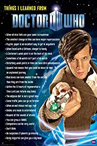 Doctor Who - Things I Learned Poster Poster Print, 24x36