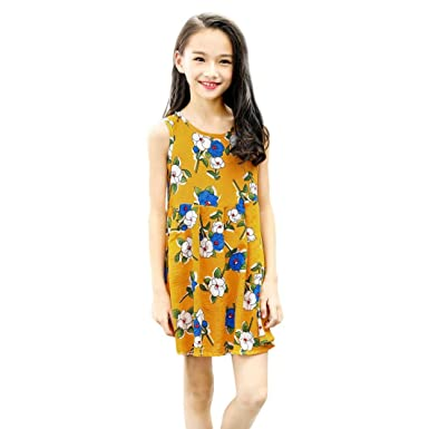 6e61132de6898 花千束 女の子 花柄 ノースリーブ ドレス ガールズ ワンピース 子供服 可愛い 通園 通学 キッズ ドレス