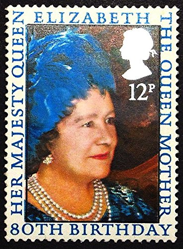Queen Elizabeth 80th Birthday - 80th Birthday Her Majesty Queen Elizabeth The Queen Mother -Handmade Framed Postage Stamp Art 22571AM