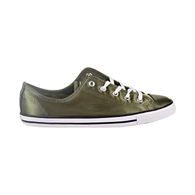 43168fed3f9e Converse Chuck Taylor All Star Dainty OX Women s Shoes Medium  Olive White Black 557976f