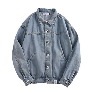 super populaire gamme complète de spécifications modèles à la mode Vintage Veste en Jean Homme Grande Taille Blouson en Denim Manteau