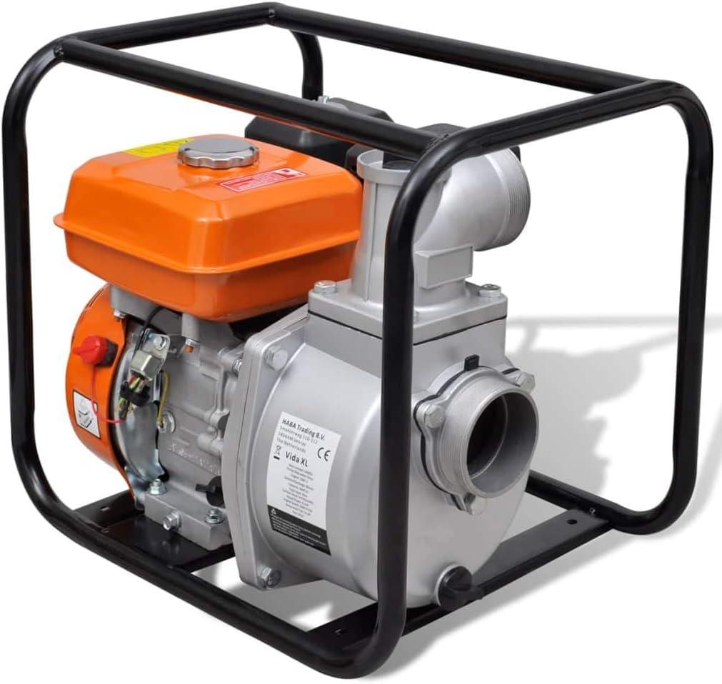Vidaxl Benzin Wasserpumpe 6 5ps Motorpumpe Kreiselpumpe Gartenpumpe Pumpe Küche Haushalt