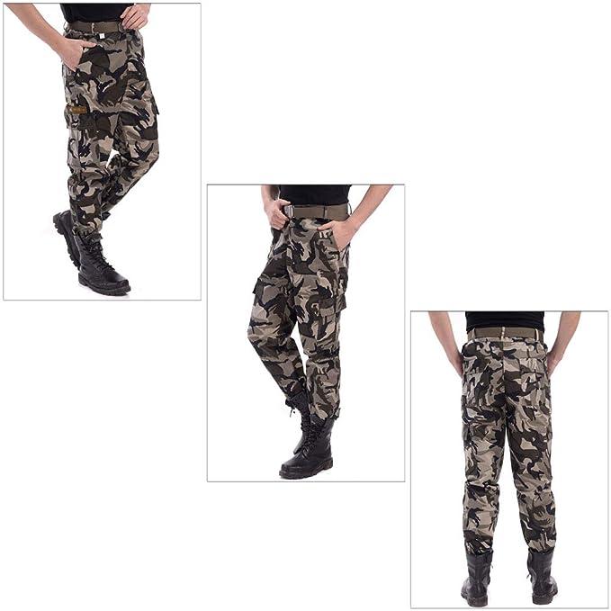 Pantalones de Trabajo de Gran Tamaño para Hombres Pantalones de Entrenamiento para Soldados Hombre ZEVONDA Pantalones de Combate para Hombres Ropa