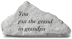 Kay Berry- Inc. 72220 You Put The Grand In Grandpa - Memorial - 4.25 Inches x 2.75 Inches