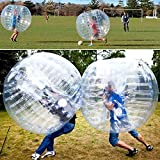 Inflatable Bumper Ball KnockerBall 1.5M Diameter 0.8MM thick TPU|Bubble Soccer, Body Zorb, Bubble Ball(US STOCK) (White, 1.2M)