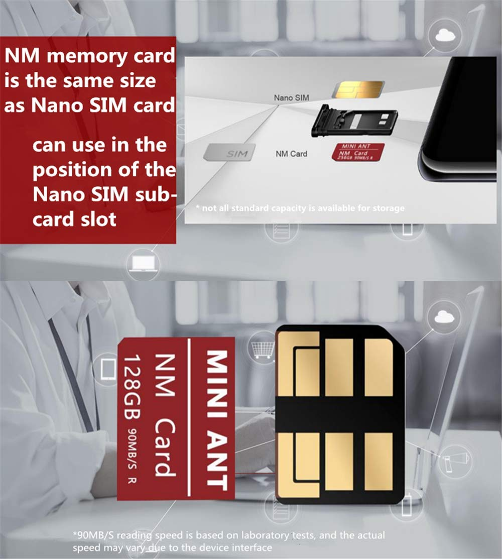 Quner Nano Memory Card 128GB Adecuado para Huawei P30 P30 ...