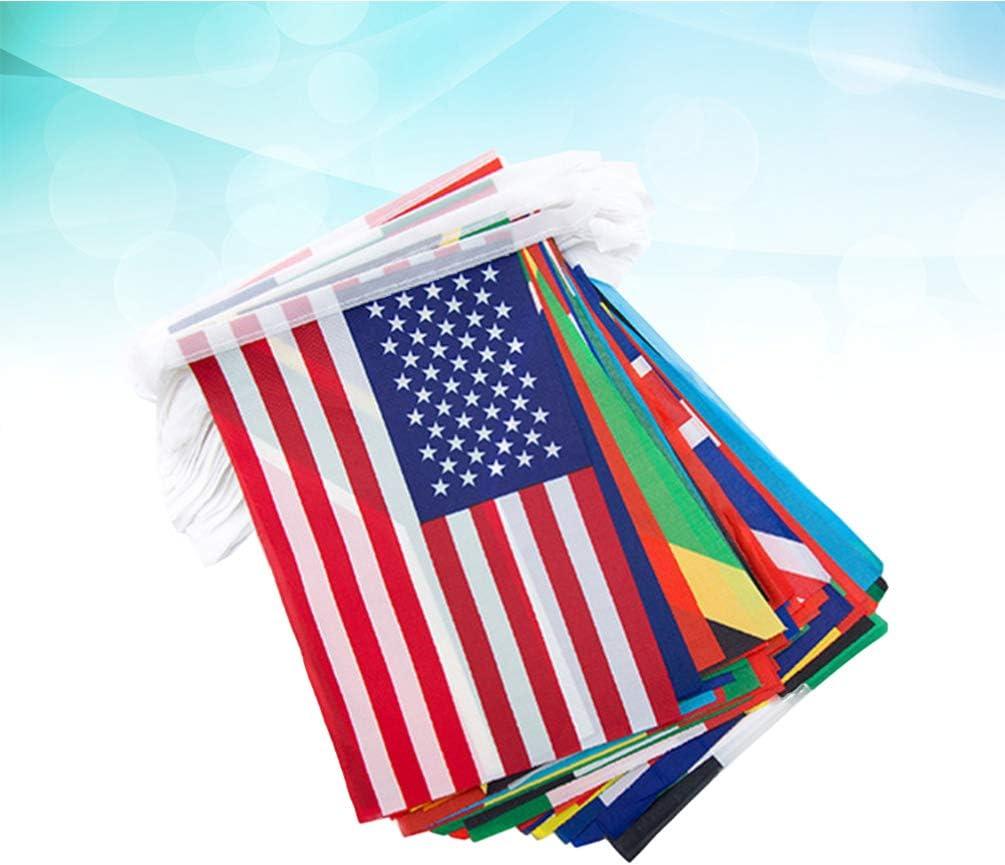 BESPORTBLE 1 Juego de Bandera de Juego de Fútbol ??Bandera de Cadena Nacional Equipos Bandera de Países para La Copa Mundial de Fanáticos de La Barra (Bandera del N. ° 9 Banderas