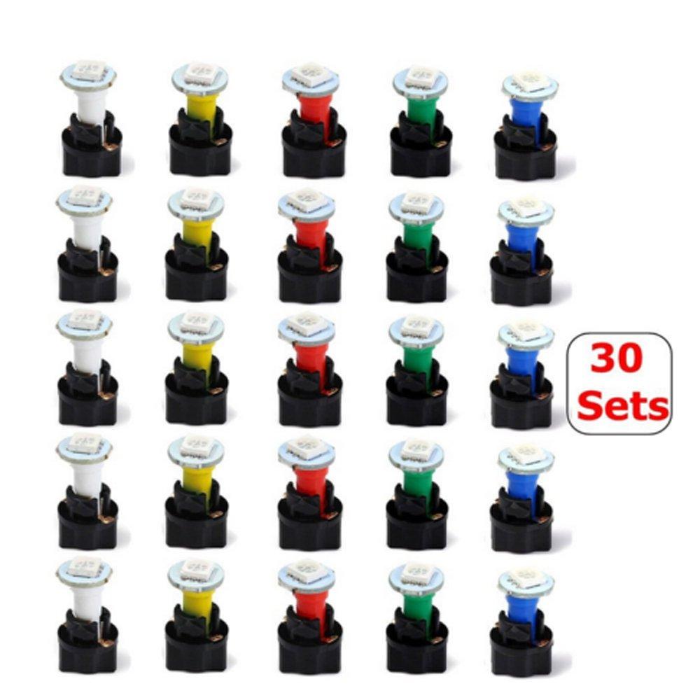 T5/1SMD 5050/LED pannello Instrument cluster gauge Dash luce per auto moto Haichen 30Pcs 1/set