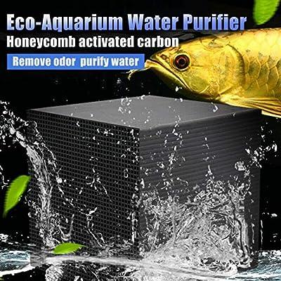 Yalatan Purificador de Agua Eco-Aquarium, Cubo Negro Filtro de ...