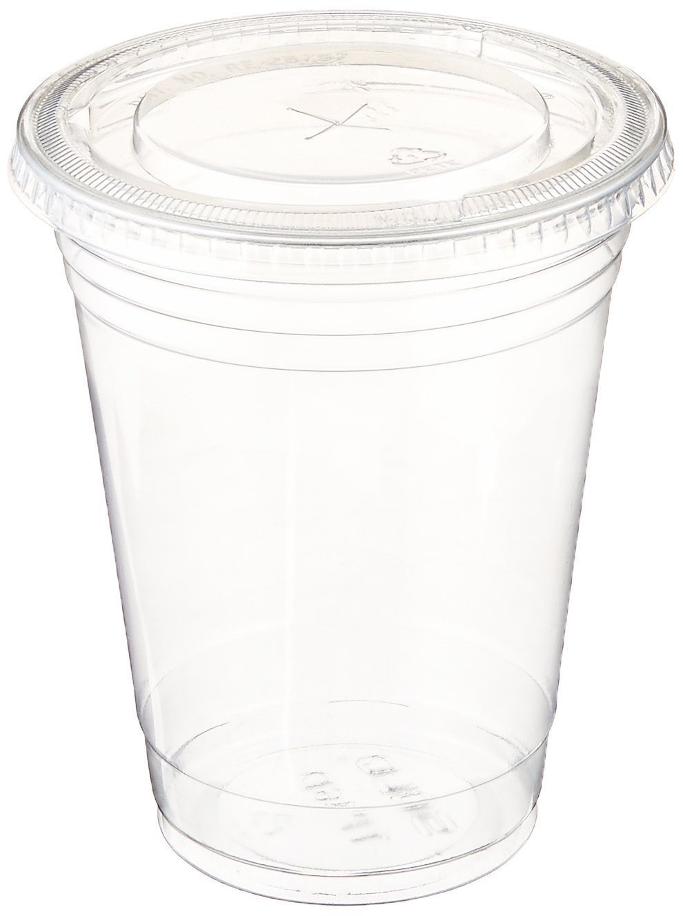 Table To Go Disposable Clear Plastic Cups with Flat Lids (600 Glasses & 600 Lids Pack/ 32 oz) | Crack-Resistant Drinking Glasses | 100% BPA-Free | Elegant Ultra-Clear Party Cup Set for Iced Coffee