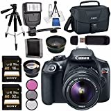 Canon EOS Rebel T6 DSLR Camera with 18-55mm Lens + 58mm Wide Angle Lens + 58mm 2x Lens + Canon 100ES EOS Shoulder Bag Bundle