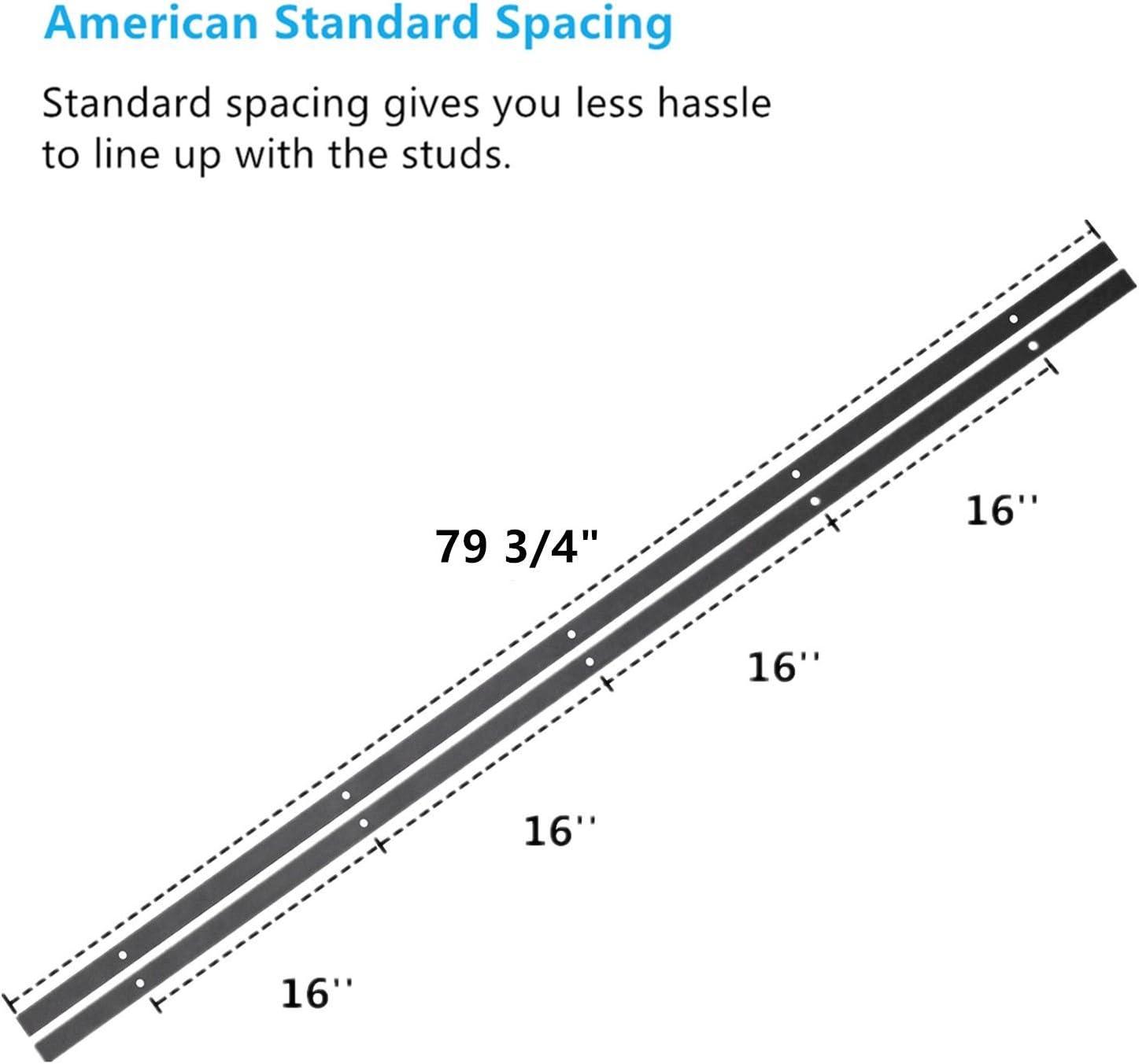 9FT Flat Track Z-Shape Bracket Straight Design Roller Black Rustic Heavy Duty Interior Exterior Use Homacer Sliding Barn Door Hardware Bypass Double Door Kit