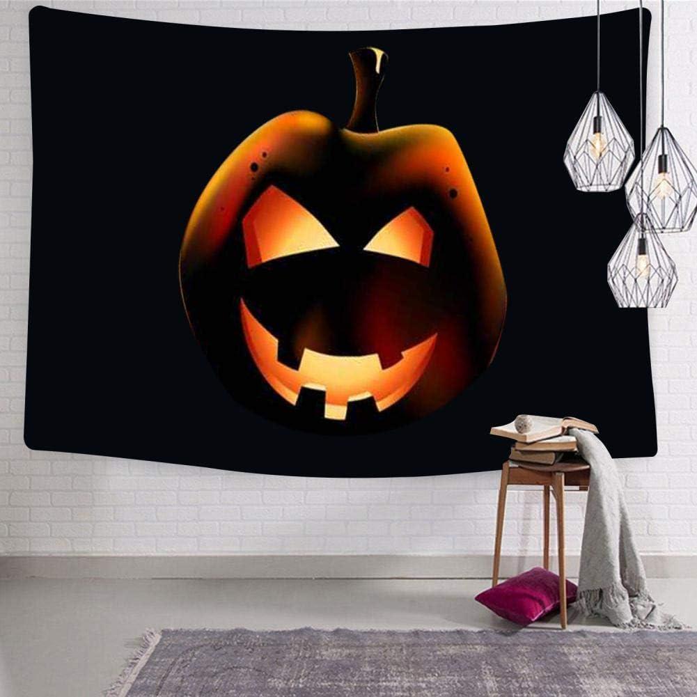 "SHDU Halloween Pumpkin Jack-o-Lantern Tapestry Wall Hanging Bedding for Living Room Bedroom Dorm Home Decor Blanket 59.1"" x 82.7"""