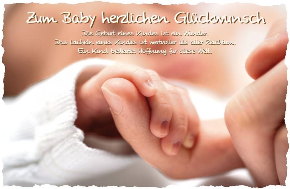 Biglietto nascita zum Baby herzlichen Congratulazioni 11 X