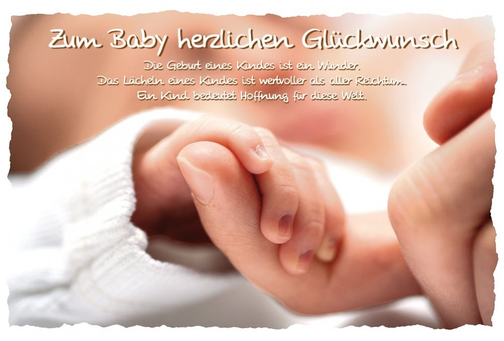 Glückwunschkarte Geburt Zum Baby Herzlichen Glückwunsch 11x17: Amazon.de:  Bürobedarf U0026 Schreibwaren