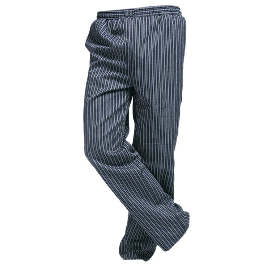 Freahap Baggy Chef Pants Stripe for Men Women M