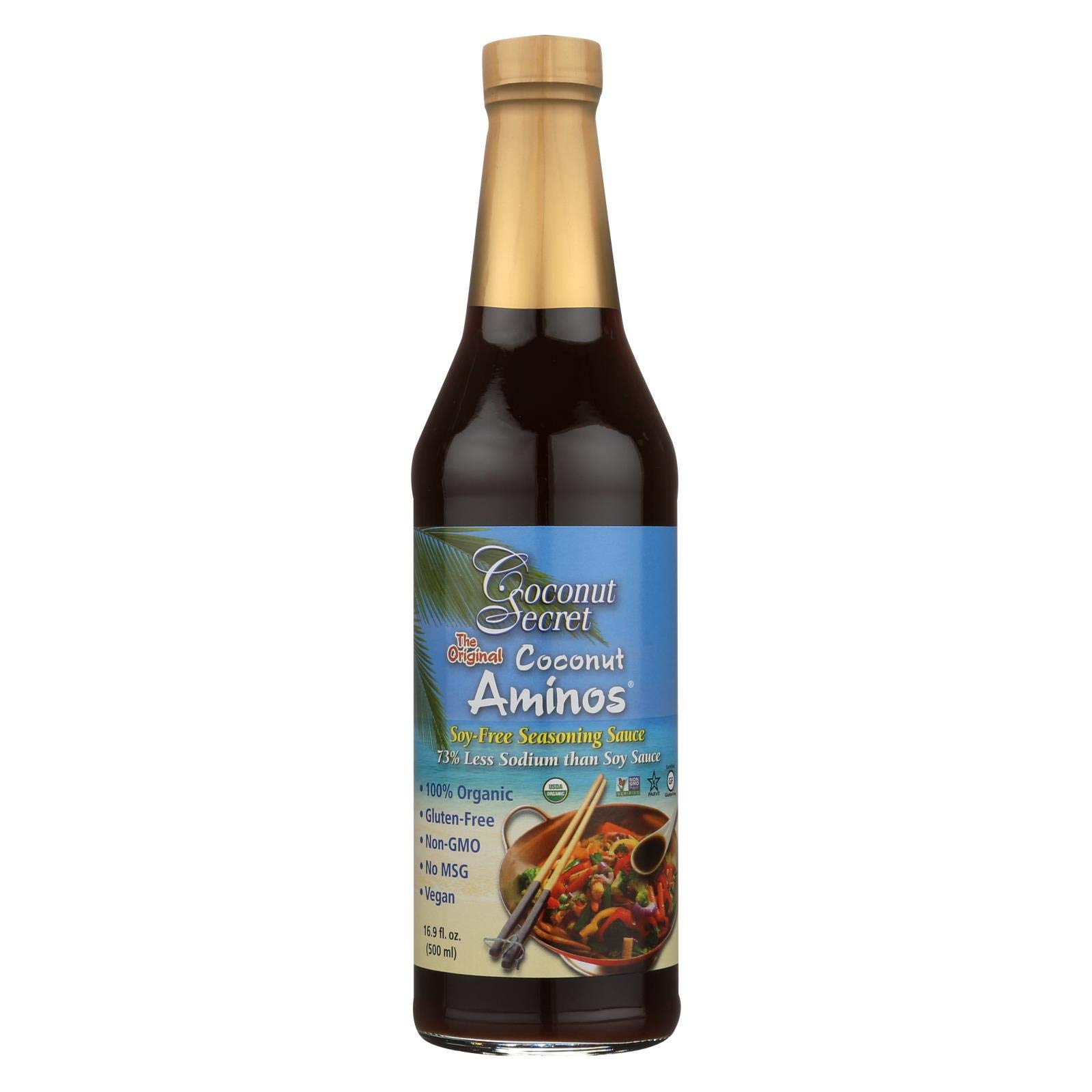 Coconut Aminos Soy Free Seasoning Sauce 16.90 Ounces (Pack of 6) by COCONUT SECRET
