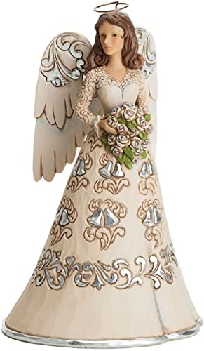 Jim Shore Heartwood Creek Blessings on 25th Wedding Anniversary Angel Figurine