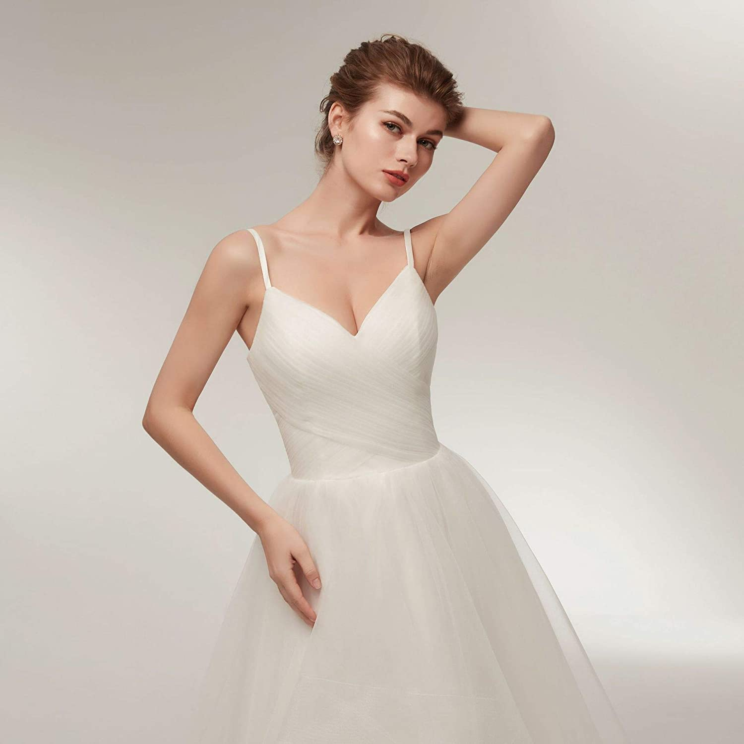 AMLUCASBRIDAL Women Party Wedding Dresses for Bride Long Bridal Guests Gown