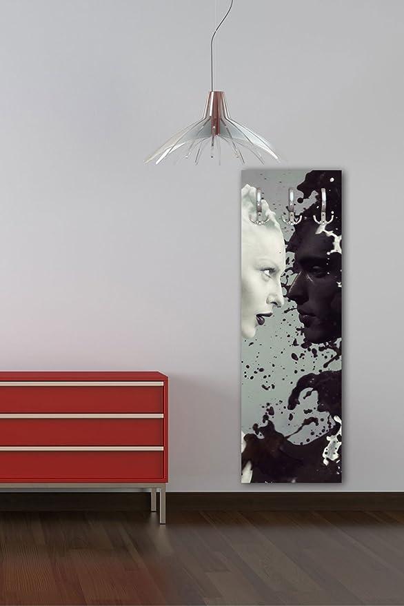 wandmotiv24 Appendiabiti da Parete con Design Blu Finestra Gozo G196/40/x 125/cm Appendiabiti da Parete Mare Natura Malta