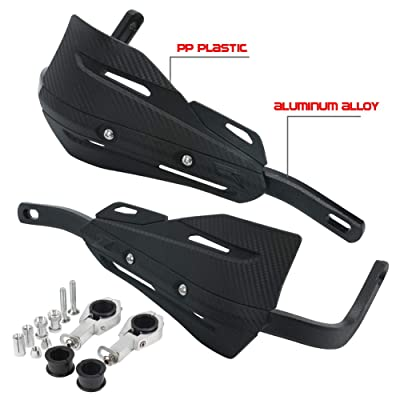 Hand Guards Dirt Bike Handguards Upgrade Black Aluminum Brush Bar Universal Motorcycle Hand Guard Bark Busters for ATV Quad CR CRF YZF KXF RMZ BSE Motocross Pit Bike Racing KAYO (Black): Automotive [5Bkhe0110291]