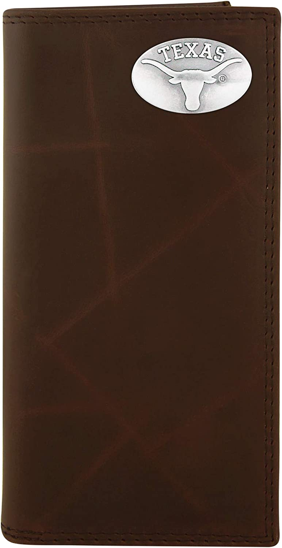NCAA Texas Longhorns Brown Wrinkle Roper List price Wallet Leather Concho free