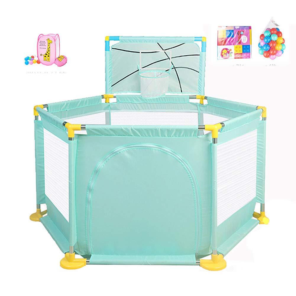 赤ちゃんの囲い オックスフォード布フェンス/遊び場屋内大容量ベビーフェンス子供の屋内おもちゃの家 (色 : Style2)  Style2 B07JDZ1YG6
